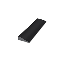 """RUBBER REDUCER TRANSITION STRIP - 1-3/8"""" Thick - 12' - Black"""
