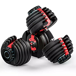 TC SELECT 552 ADJUSTABLE DUMBBELL SET 5-52.5LBS WITH KETTLEBELL HANDLE