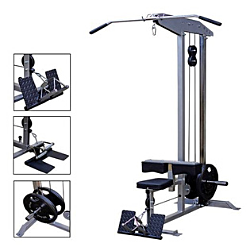 TRAINING CAMP LAT PULL DOW / LOW ROW COMBO - PLATE LOADED
