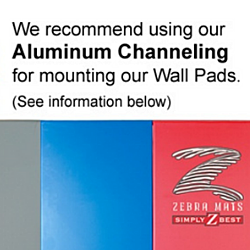 6' Aluminum Channels For Wall Pads